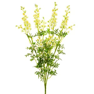 "28"" Larkspur Bush x4 Cream (pack of 6) 78"