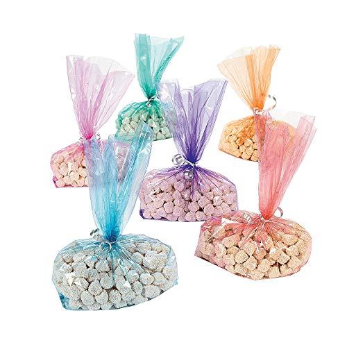 - Fun Express - Cellophane Bag Assortment (6dz) for Party - Party Supplies - Bags - Cellophane Bags - Party - 72 Pieces