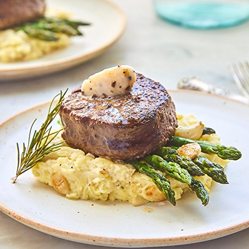 Filet Mignon with Black Truffle Butter (Dinner for 4) Creamy Garlic Mashed Potatoes