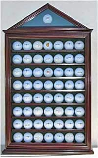 product image for 57 Golf Ball Display Case Shadow Box Wall Cabinet Holder Rack w/ 98% UV Protection
