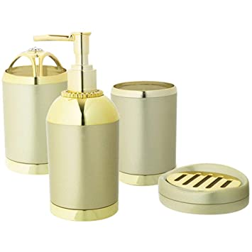 Htst Rose Gold Badezimmer Zubehor Set Badezimmer Toilettenartikel