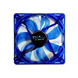 APEVIA CF312SL-UBL 120mm 3 & 4pin Quiet Blue LED Case Fan (3-pk)