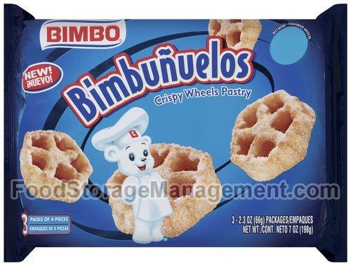 Crispy Bread (Sweet Baked Goods Bimbunuelos 2.3 Oz Packs Bimbo Crispy Wheels [Pack of 3])