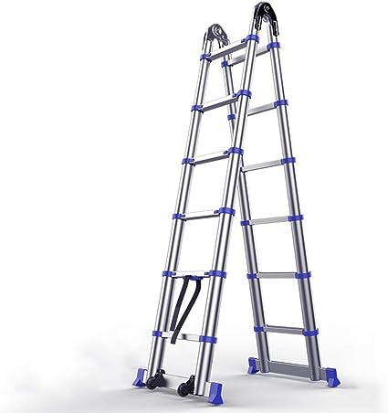 MC-BLL-ladder Escalera de extensión de Aluminio Grueso Multifuncional Escalera Plegable Escalera de Mano Escalera de ingeniería Escalera de ingeniería escaleras: Amazon.es: Hogar