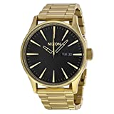 NIXON Quartz Stainless Steel Casual Watch, Color:Gold-Toned (Model: A356-510)