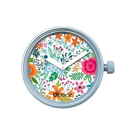 O clock Urban Decor Flowers o Bag Azul Flores Colores: Amazon.es: Relojes