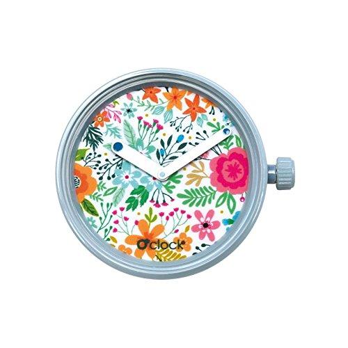 O clock Urban Decor Flowers o Bag Azul Flores Colores