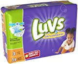 Luvs Ultra Leakguards Diapers Size 3 34 Count