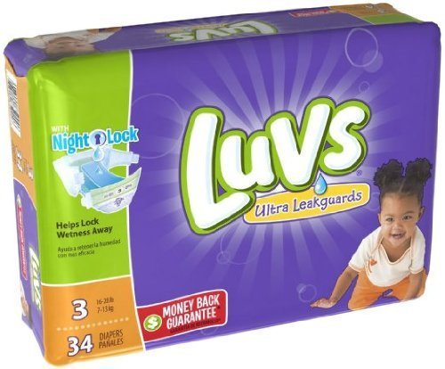 Luvs Ultra Leakguards Diapers Size 3 34 Count - Luvs Baby Diapers