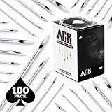 needles to pierce belly button - ACE Needles 100 Mix Body Piercing Needle Sizes 12g, 14g, 16g, 18g and 20g (20 pcs each)
