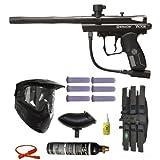 Spyder Victor Paintball Gun Marker 6+1 9oz 3Skull Mega Set - Black