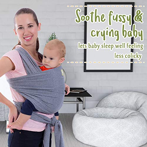 Baby Wrap Carrier by KeaBabies – All-in-1 Stretchy Baby Wraps – Baby Sling – Infant Carrier – Babys Wrap – Hands Free Babies Carrier Wraps | Great Baby Shower Gift
