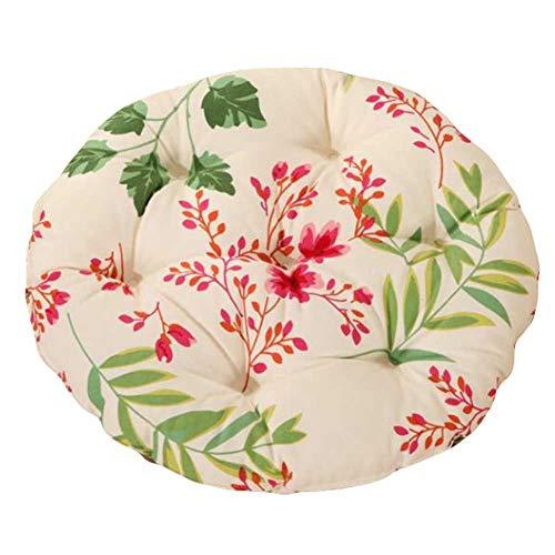 PANDA SUPERSTORE Flower - 40cm Cotton Chair Pad Futon Cushion Floor Round Seat Cushion Tatami