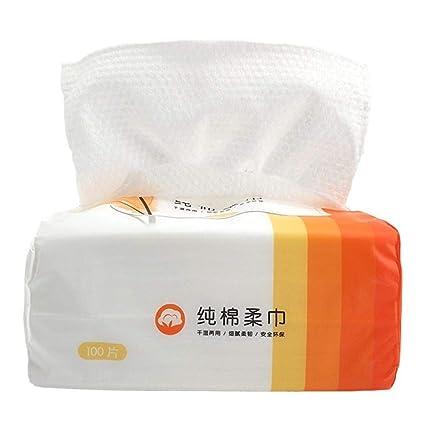 Toalla facial suave de algodón desechable, toalla de belleza ...