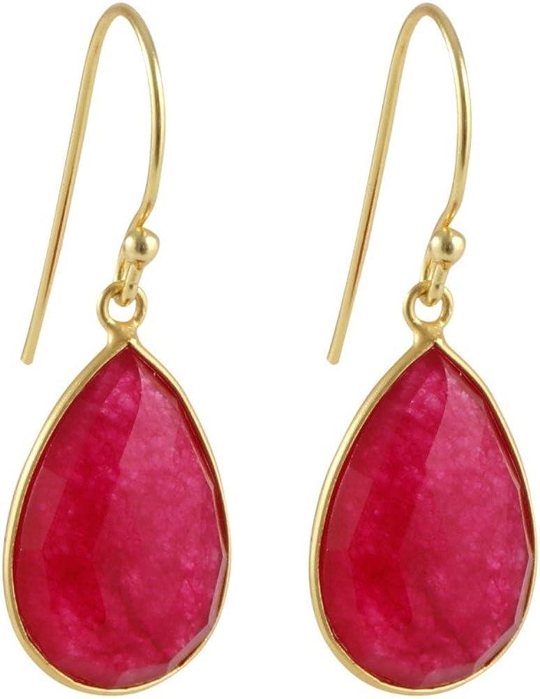 Fine ear hangers Ruby Gemstone Earring