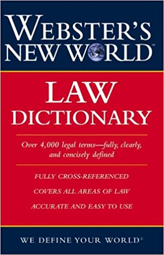 Amazon Com Webster S New World Law Dictionary