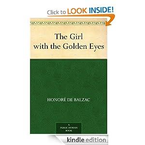The Girl with the Golden Eyes Honore de Balzac