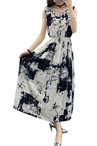 Colors Sundress High 15 Floral Waist Women's Sleeveless Dresses Long 10 Aishang qxZzEx