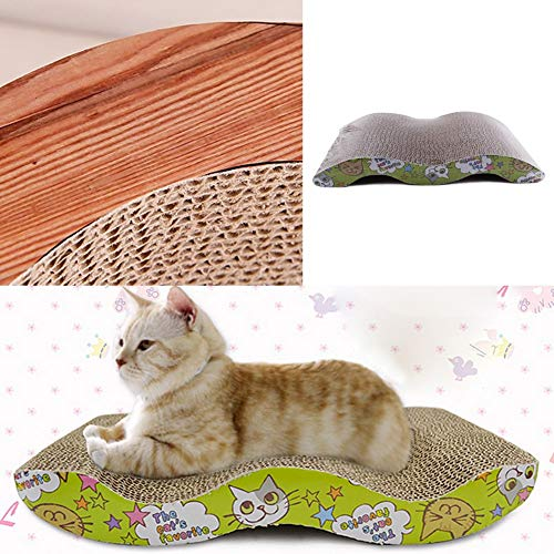 43x21cm Cat Scratcher Corrugated Scratching Board Pad Kitten Claws Care Interactive Toys Toy With - Cat Accessories -