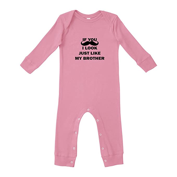 e56910dd3f If You I Look Just Like My Brother Cotton Long Sleeve Envelope Neck Unisex  Baby Legged