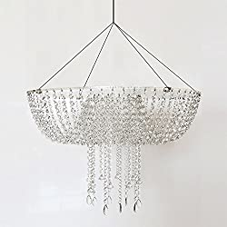 Romantic Wedding Faux Acrylic Crystal Chandelier Style Drape Suspended Cake Swing (Acrylic, DIA17.7)