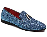 CMM Mens Luxury Sparkling Glitter Slip On Loafers Nightclub Party Dress Shoes