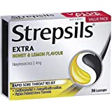 Strepsils Extra Lozenges Honey and Lemon 36s Numbs the Pain, 0.055 kilograms
