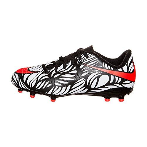 Nike Kids Hypervenom Phelon II FG Black/Bright Crimson/White Shoes - 10.5C
