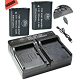 BM Premium 2-Pack of NP-BX1 NP-BX1/M8 Batteries & Dual Battery Charger for Sony CyberShot DSC-HX80, HDR-AS50, DSC-RX1, DSC-RX1R, DSC-RX1R II, DSC-RX100, DSC-RX100M II, DSC-RX100 III, DSC-RX100 IV, DSC-H300, DSC-H400, DSC-HX300, DSC-HX50V, DSC-HX60V, DSC-HX80V, DSC-HX90V, DSC-WX300, DSC-WX350, HDR-AS10, HDR-AS15, HDR-AS30V, HDR-AS100V, HDR-AS100VR, HDR-AS200V, HDR-AS200VR, HDR-CX240, HDR-CX405, HDR-CX440, HDR-PJ275, HDR-PJ440, HDR-MV1, FDR-X1000V, FDR-X1000VR Digital Camera