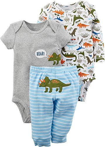 Carter's Baby Boys' 3-Pc. Little Character Set 3 Months Multicolor Dino