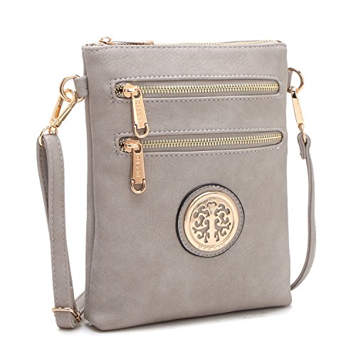 Jshop Crossbody Grey Gold Flat Bag Women��s rqwxzf1r