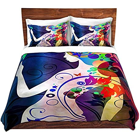 Duvet Cover Brushed Twill Twin Queen King SETs DiaNoche Designs Angelina Vick Wondrous Night 5