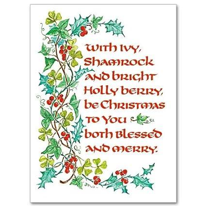 Merry Christmas In Irish.Amazon Com Celtic Christmas Blessings Irish Deluxe Card