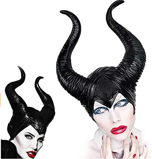 QYS Disfraz Maléfica Cuernos Halloween Cosplay: Amazon.es: Hogar