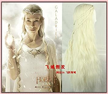 Amazon Com Wig Elf Queen Galadriel Hobbit Light Golden Corn Hot