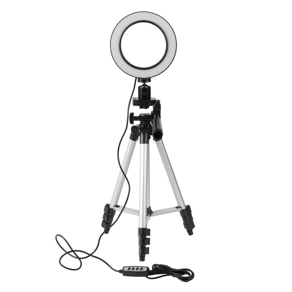 Youtiankai 三脚 5.7インチ 調光機能付き LED スタジオ カメラ リング ライト ビデオ ライト アキュラー ランプ   B07NVCMF29