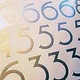 Craftsman Style Die Cut Vinyl Numbers (3 inch Metallic Silver Gray)