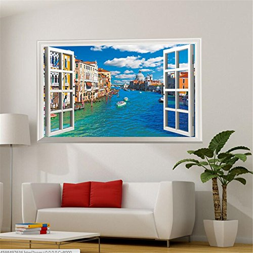 Fake Windows For Walls : D fake windows wall stickers removable sticker for