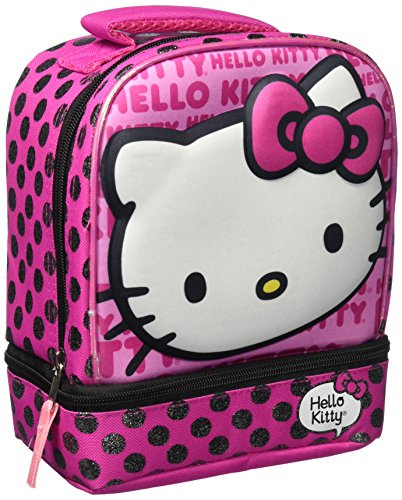 Fast Forward C6COD03-T Hello Kitty Dual Compartment Lunch Bag, Pink (Spongebob Tv Dvd Combo)
