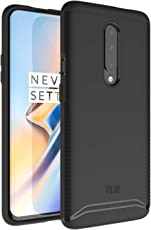 OnePlus 7 Pro Case, TUDIA Slim-Fit HEAVY DUTY [MERGE] EXTREME Protection / Rugged but Slim Dual Layer Case for OnePlus 7 Pro (2019) (Matte Black)