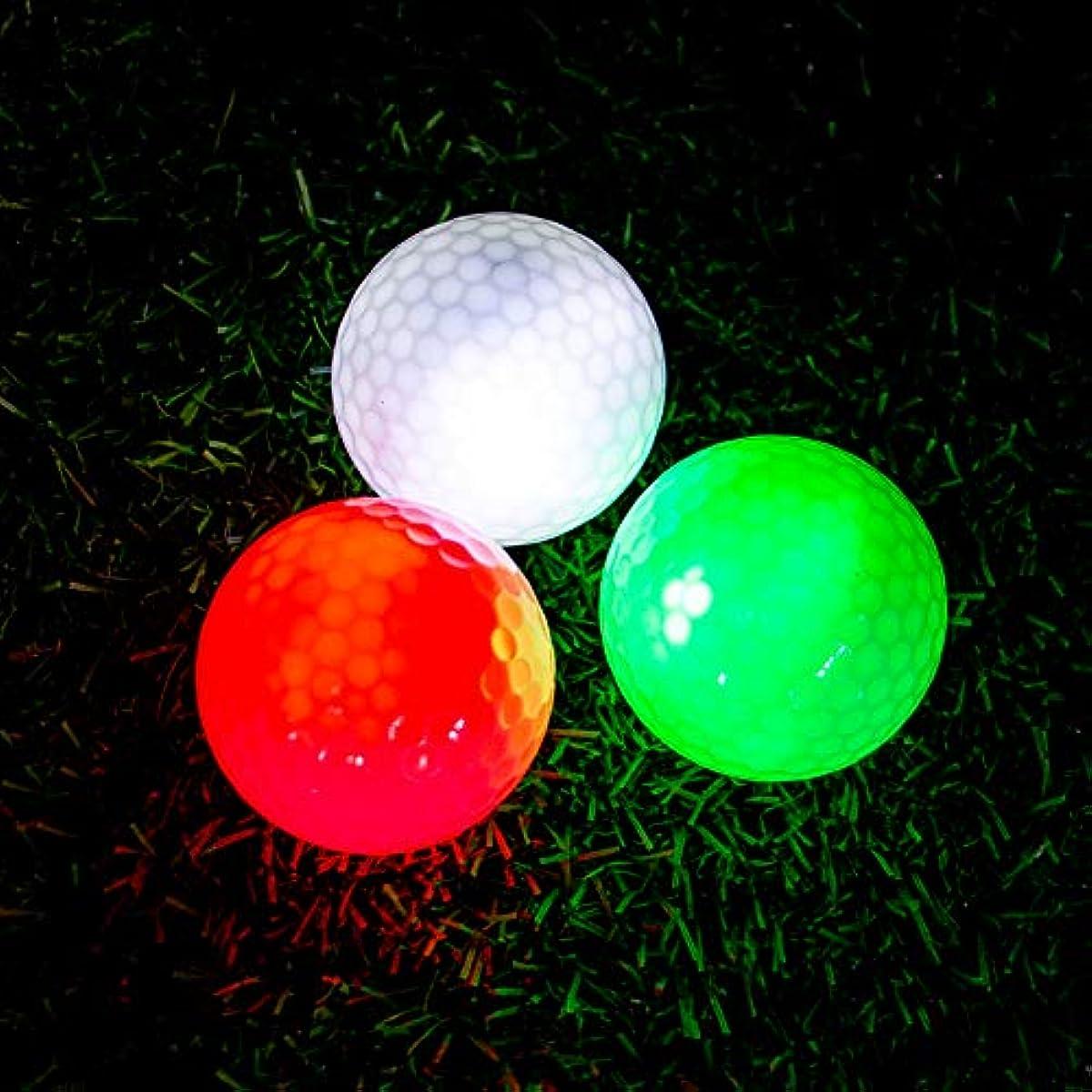 [해외] 빛난 골프 볼 업LED라이트 - 다크 long last 슈퍼 블라이트 나이트 골프 볼 6 색선택가 LED발광