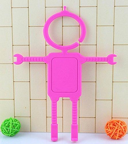 CrawL Robot Design Flexible Cellphone Holder / Multipurpose Bendable Mountable Mobile Holder (Pink)