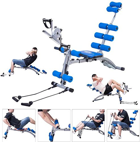 K&A Company Multi Functional Twister AB Rocket Abdominal Trainer Bench Stepper New Gym Exercise Fitness Blue by K&A Company