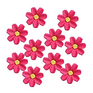 KODORIA 100pcs Artificial Flower Heads Silk Daisy Flower Heads for DIY Baby Shower, Home Party Wedding Favor Decoration DIY Craft Fake Flowers - Rose Red 31