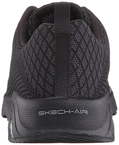 Femme Basses Skechers Noir Awaken Varsity Air Sneakers 4w6z7q