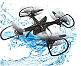 RC Helicopter With Camera - Maxbo 2.4Ghz 4CH Waterproof Remote Control Quadcopter UFO UAV Drone 3D Flip (Without Camera) (Black)
