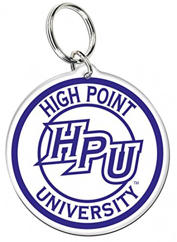 Wincraft High Point University Panthers Premium Acrylic Key Ring/Zipper Pull, 2 inches Round ()
