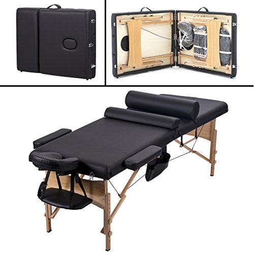 Comfort Pad Portable Massage Table Facial Spa Bed w/ Carry Case BestMassage