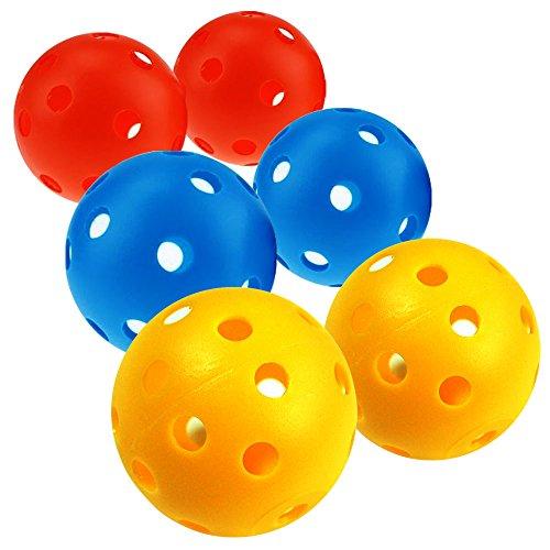 Curve Training Baseball (Sports Plastic Wiffle Ball Set - Plastic Training Balls Sports Plastic Wiffle Ball Set Plastic Training balls (Baseball _6 pcs))