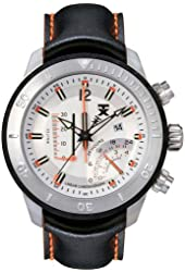 TX Men's T3C307 800 Series Linear Chronograph Dual-Time Zone Watch